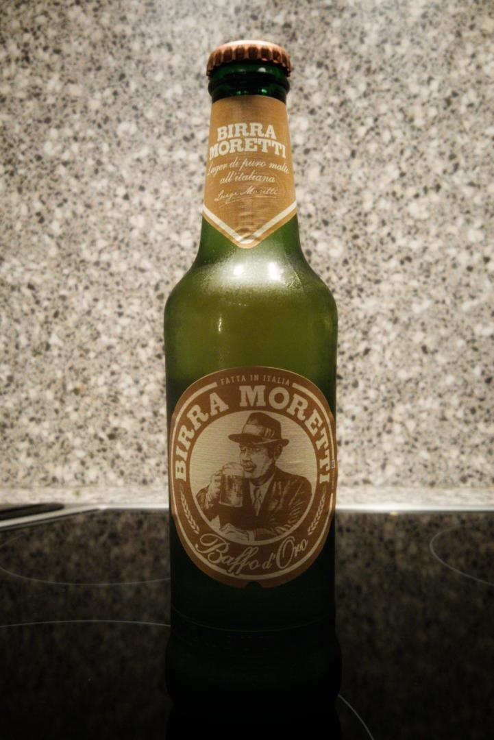 Moretti Baffo d'Oro Flasche